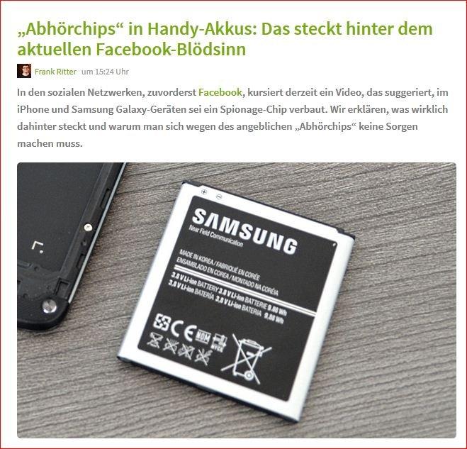 Samsung Akku Abhörchip