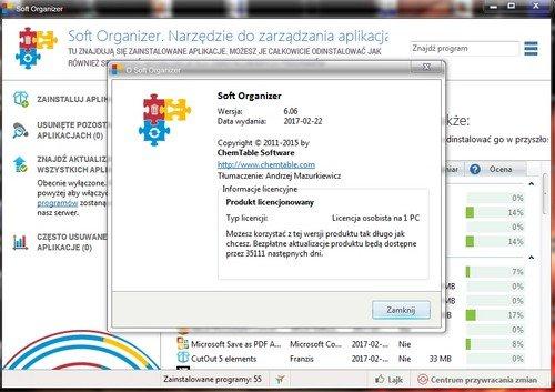 Soft Organizer 6.06 (PL)