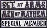 Sgt. at Arms, MoM, SPM, SoA DE